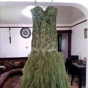 Gorgeous Olive green JOVANI dress